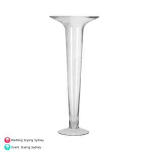 clear-glass-trumpet-vase