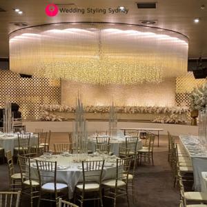 Lemnos-wedding-fairy-light-waterfall-installation
