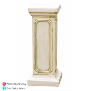 ivory-floral-plinth-hire