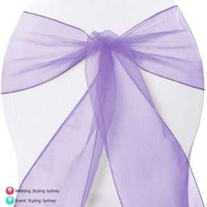 lavender-organza-chair-sash-hire