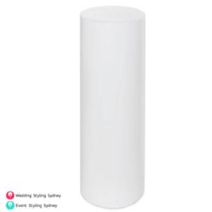 round-white-acrylic-plinth-hire