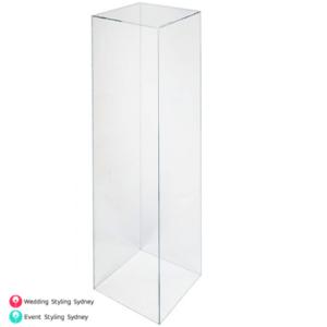 110cm-clear-acrylic-plinth-hire
