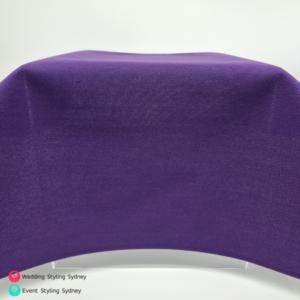 Purple-linen-tablecloth-hire