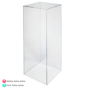 Clear-Acrylic-plinth-hire