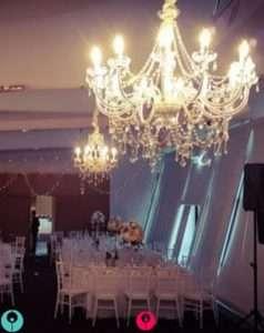 L'aqua-wedding-chandelier-with-fairylights-hire