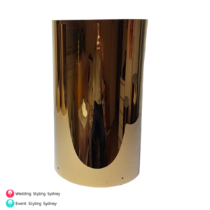 small-round-gold-plinth-hire