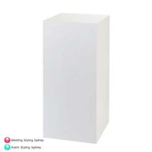 white-acrylic-plinth-hire
