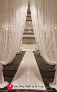 White-sheer-wedding-reception-entrance-reveal