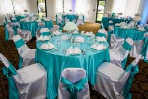 Aqua-themed-wedding-reception
