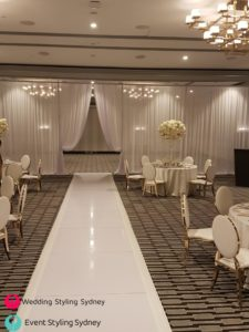 double-bay-sheer-white-wedding-drapes-hire
