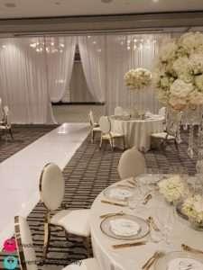 double-bay-white-sheer-wedding-drapes-install