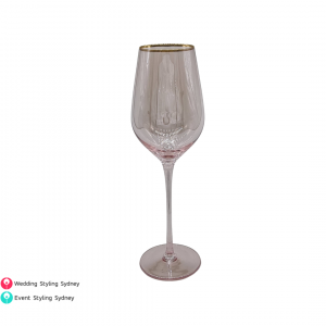 pink-gold-rimmed-wine-glass-hire
