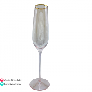hire-pink-gold-rimmed-champagne-flute-glasses